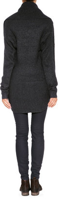 Vince Wool-Cashmere Cardigan in Charcoal