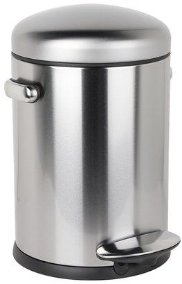 Simplehuman 20L Retro Step Can Round - Brushed (Stainless Steel) - Home
