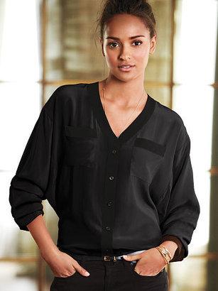 Victoria's Secret Dolman Button-front Shirt