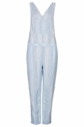Topshop Moto stripe linen jumpsuit