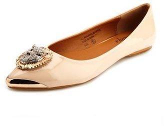 Charlotte Russe Lion Head Pointy Toe Ballet Flat