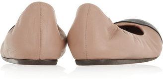 Lanvin Contrast-toe leather ballet flats