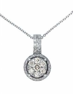 Effy 14K White Gold Diamond Pendant