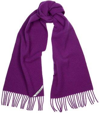 Acne Studios Holmes Purple Brushed Wool Scarf