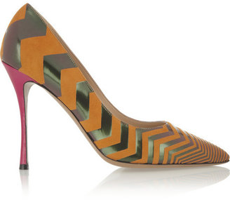 Nicholas Kirkwood Suede and leather pumps