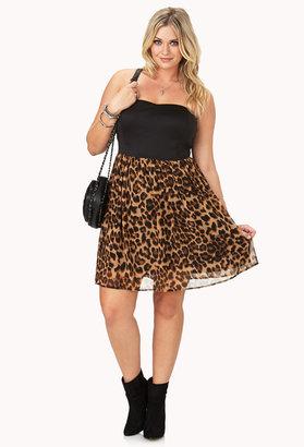Forever 21 FOREVER 21+ Wild Thing Leopard Mini Dress