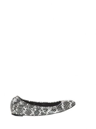 Alice + Olivia Delores Optic Snake Print Leather Flat