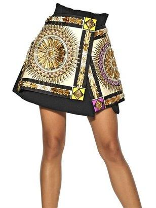 Fausto Puglisi Embroidered Wool Crepe Skirt