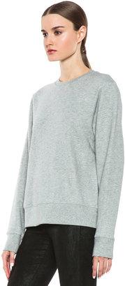Helmut Lang Dynamite Terry Crew Neck Sweatshirt in Pale Heather