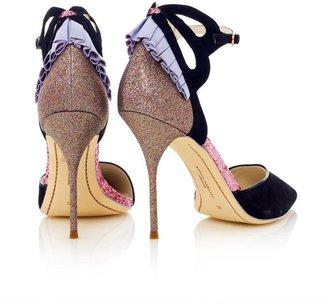 Webster Sophia Penelope glitter-heel suede pumps
