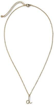 Pim + Larkin Initial Pendant Necklace