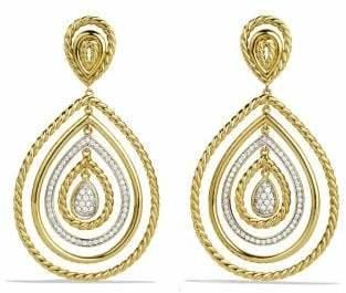 David Yurman Mobile Drop Earrings With Diamonds In 18K Gold