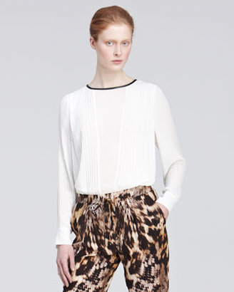 Yigal Azrouel Pleated Blouse