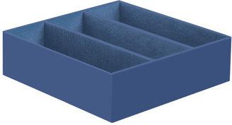 Container Store 3-Section Drawer Organizer Indigo