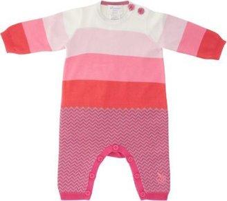 Bonnie Baby Block-Stripe Knit Coverall
