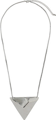 Topshop Battered Triangle Necklace