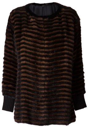 Derek Lam mink stripe jacket