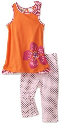 Carter's Toddler Girls Polka Dot Print Legging Set with Flowers