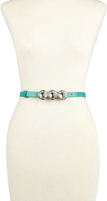 Betsey Johnson Skinny Belt With Crystals