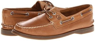 Sperry A/O 2 Eye (Sahara W/Honey Outsole) Women's Slip on Shoes