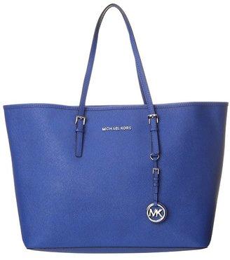 MICHAEL Michael Kors Jet Set Medium Saffiano Travel Tote (Sapphire) - Bags and Luggage