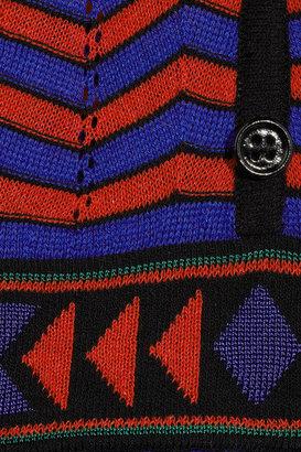 M Missoni Chevron-knit cotton-blend dress