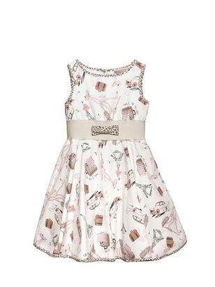 MonnaLisa Cotton Printed Sateen Dress
