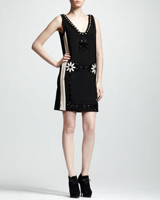 Lanvin Embroidered Shift Dress