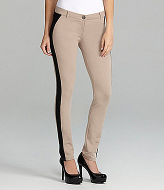Gianni Bini Barney Side-Stripe Ponte Knit Pants