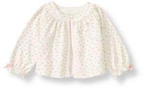 Janie and Jack Rosette Floral Knit Cardigan
