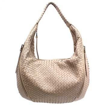 """Christopher Kon PL01617"""" Biscotto (Beige) Leather Woven Hobo"""