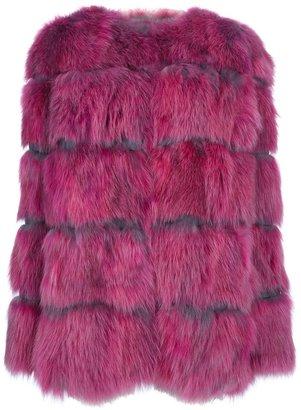 Moschino Cheap & Chic faux-fur coat