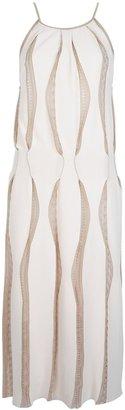 Blumarine strappy panel dress