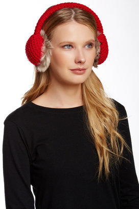 Collection XIIX Waffle Knit Faux Fur Earmuff $34 thestylecure.com