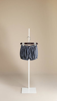 Burberry Chambray Cotton Shorts
