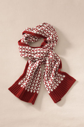 Lands' End Canvas Lambswool Fair Isle Scarf