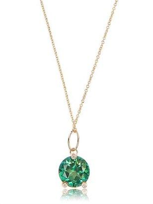 Delfina Delettrez Green Triangle Necklace