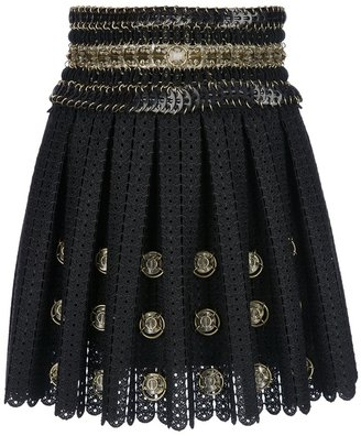 Paco Rabanne embellished crochet mini skirt