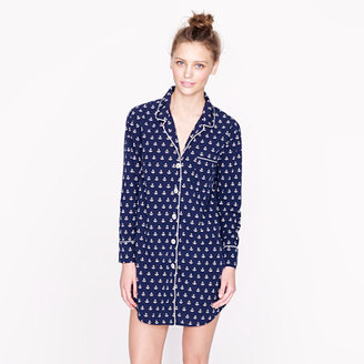 J.Crew Nightshirt in anchor print