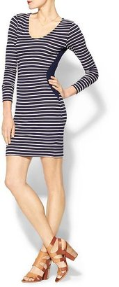 Velvet by Graham & Spencer Ponti Stripes Ravello Dress