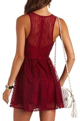 Charlotte Russe Animal Mesh A-Line Dress