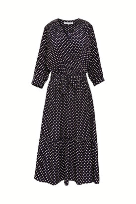 Gerard Darel Sasha - Polka Dot Wrap Dress