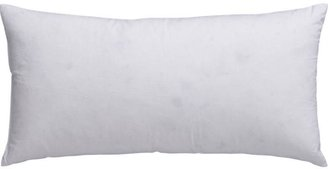 """Crate & Barrel Feather-Down 16""""x8"""" Pillow Insert"""