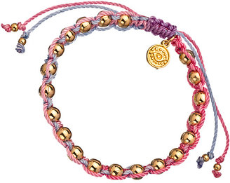 Blee Inara Multicolor Macrame and Gold Bead Bracelet