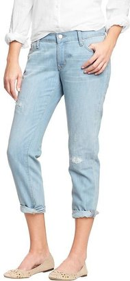"Old Navy Women's The Boyfriend Distressed Jeans (24"")"