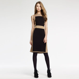 Anne Klein Color Block Sweater Dress