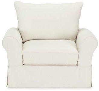 Pottery Barn PB Comfort Roll Arm Slipcovered Knife-Edge Cushion Armchair