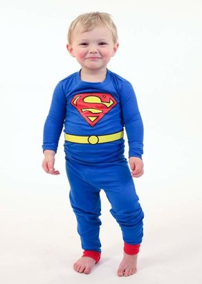 Intimo Superman Long Sleeve Tight Fit PJ Set (Baby & Toddler Boys)