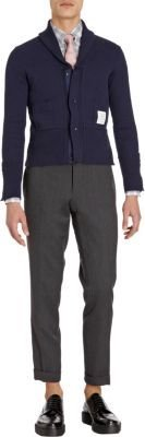 Thom Browne Double-face Jersey Shawl-collar Cardigan