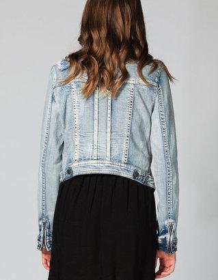 Tinseltown Americana Womens Denim Jacket